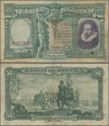Angola: Banco de Angola 50 Angolares 1951, P.84, still great condition and very rare, with repaired parts at center and lightly toned paper. Condition...