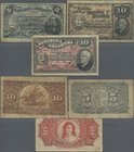 Argentina: Set with 3 banknotes 5 Centavos 1890 P.209 (F-), 10 Centavos 1891 P.210 (F) and 10 Centavos 1895 P.228 (F/F+). (3 pcs.)