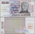 Argentina: 500.000 Australes ND(1990), P.333 in perfect UNC condition. Very Rare!
