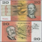 "Australia: Reserve Bank of Australia 20 Dollars ND(1974-94) with signatures: Fraser & Cole and additional overprint ""80th ANNIVERSARY FIRST COMMONWEAL..."