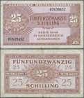 Austria: 25 Schilling AMB 1944, P.108a, lightly toned paper and tiny margin split. Condition: F+. Rare!