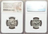 MACEDONIAN KINGDOM. Alexander III the Great (336-323 BC). AR tetradrachm (24mm, 16.95 gm, 2h). NGC AU 5/5 - 3/5. Early posthumous issue of 'Amphipolis...