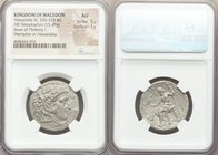 MACEDONIAN KINGDOM. Alexander III the Great (336-323 BC). AR tetradrachm (26mm, 15.49 gm, 11h). NGC AU 5/5 - 1/5. Early Ptolemaic issue of Memphis (or...