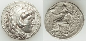 MACEDONIAN KINGDOM. Alexander III the Great (336-323 BC). AR tetradrachm (27mm, 16.52 gm, 6h). XF, porosity. Lifetime issue of 'Babylon', ca. 325-323 ...