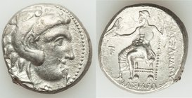 MACEDONIAN KINGDOM. Alexander III the Great (336-323 BC). AR tetradrachm (25mm, 16.95 gm, 1h). About XF, graffito.. Late lifetime-early posthumous iss...