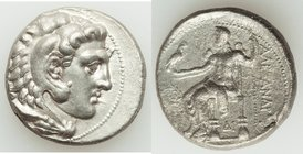 MACEDONIAN KINGDOM. Alexander III the Great (336-323 BC). AR tetradrachm (26mm, 16.75 gm, 9h). XF, porosity. Late lifetime to early posthumous issue o...
