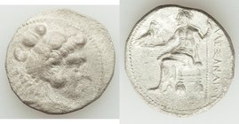 MACEDONIAN KINGDOM. Alexander III the Great (336-323 BC). AR tetradrachm (26mm, 16.37 gm, 10h). XF, porosity, brushed. Lifetime or early posthumous is...