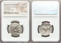 MACEDONIAN KINGDOM. Philip III Arrhidaeus (323-317 BC). AR tetradrachm (26mm, 16.91 gm, 2h). NGC Choice XF 5/5 - 3/5. Babylon. Head of Heracles right,...