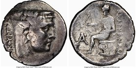 ACARNANIA. Federal Confederacy. Ca. 250-200 BC. AR drachm (19mm, 12h). NGC Choice Fine. Leucas mint, Lycourgus, magistrate. Head of river god Achelous...