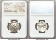 ATTICA. Athens. Ca. 440-404 BC. AR tetradrachm (23mm, 17.19 gm, 1h). NGC AU 5/5 - 2/5, test cut. Mid-mass coinage issue. Head of Athena right, wearing...