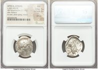 ATTICA. Athens. Ca. 440-404 BC. AR tetradrachm (25mm, 17.19 gm, 10h). NGC AU 5/5 - 2/5, test cut. Mid-mass coinage issue. Head of Athena right, wearin...