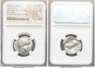 ATTICA. Athens. Ca. 440-404 BC. AR tetradrachm (24mm, 17.14 gm, 1h). NGC Choice XF 5/5 - 4/5. Mid-mass coinage issue. Head of Athena right, wearing cr...