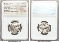 ATTICA. Athens. Ca. 440-404 BC. AR tetradrachm (23mm, 17.18 gm, 1h). NGC Choice XF 4/5 - 4/5. Mid-mass coinage issue. Head of Athena right, wearing cr...