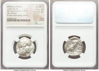 ATTICA. Athens. Ca. 440-404 BC. AR tetradrachm (24mm, 17.06 gm, 12h). NGC Choice XF 4/5 - 3/5. Mid-mass coinage issue. Head of Athena right, wearing c...
