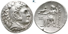 Kings of Macedon. Pella or Amphipolis. Antigonos II Gonatas 277-239 BC. In the name and types of Alexander III. Struck circa 275 BC. Tetradrachm AR