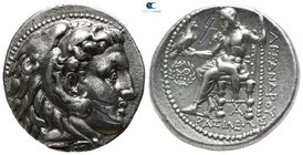 Kings of Macedon. Babylon. Antigonos I Monophthalmos 320-301 BC. In the name of Alexander III. Struck under Peithon, circa 315-311 BC. Tetradrachm AR