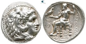 "Kings of Macedon. Babylon. Alexander III ""the Great"" 336-323 BC. Struck under Seleukos I, 311-305 BC.. Tetradrachm AR"