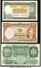 Australia Commonwealth Bank of Australia 10 Shillings ND (1961-65) Pick 33a R17 Very Fine-Extremely Fine; Great Britain Bank of England 1 Pound ND (19...
