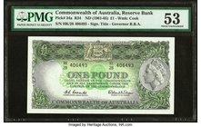 Australia Commonwealth Bank of Australia 1 Pound ND (1961-65) Pick 34a R34 PMG About Uncirculated 53.   HID09801242017
