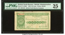 British North Borneo British North Borneo Company 50 Cents 1.1.1938 Pick 27 PMG Very Fine 25. Foreign substance.  HID09801242017