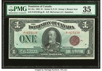 Canada Dominion of Canada $1 2.7.1923 DC-25e PMG Choice Very Fine 35. Stains lightened.  HID09801242017