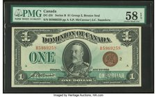 Canada Dominion of Canada $1 2.7.1923 DC-25i PMG Choice About Unc 58 EPQ.   HID09801242017