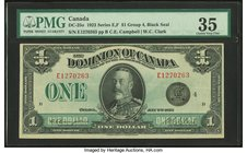 Canada Dominion of Canada $1 2.7.1923 DC-25o PMG Choice Very Fine 35.   HID09801242017