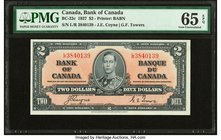 Canada Bank of Canada $2 2.1.1937 BC-22c PMG Gem Uncirculated 65 EPQ.   HID09801242017