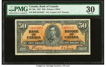 Canada Bank of Canada $50 2.1.1937 BC-26c PMG Very Fine 30.   HID09801242017