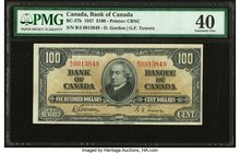 Canada Bank of Canada $100 2.1.1937 BC-27b PMG Extremely Fine 40.   HID09801242017