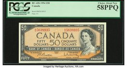 Canada Bank of Canada $50 1954 BC-42b PCGS Choice About New 58PPQ.   HID09801242017