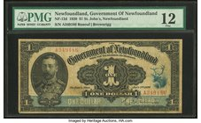 Canada St. John's- NF Government of Newfoundland $1 2.1.1920 NF-12d PMG Fine 12.   HID09801242017