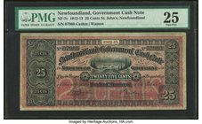 Canada St. John's- NF Newfoundland Government Cash Note 25 Cents 1912-13 NF-7c PMG Very Fine 25.   HID09801242017