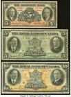 Canada Toronto, ON- Dominion Bank $5 Jan. 2, 1935 Ch. # 220-26-02 Fine; Montreal, PQ- Royal Bank of Canada $5; $10 Jan. 3, 1927 Ch. # 630-14-04; 630-1...