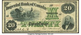 Canada Toronto, ON- Imperial Bank of Canada $20 Jan. 2, 1920 Ch. # 375-16-18C Counterfeit Very Fine.   HID09801242017