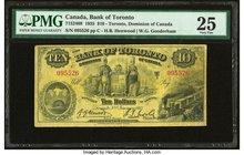 Canada Toronto, ON- Bank of Toronto $10 2.1.1935 Ch.# 715-24-08 PMG Very Fine 25.   HID09801242017