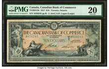 Canada Toronto, ON- Canadian Bank of Commerce $10 2.1.1917 Ch.# 75-16-04-12b PMG Very Fine 20. Erasure.  HID09801242017