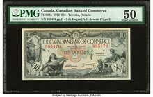 Canada Toronto, ON- Canadian Bank of Commerce $10 2.1.1935 Ch.# 75-18-08a PMG About Uncirculated 50. Toned.  HID09801242017