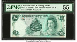 Cayman Islands Currency Board 5 Dollars 1971 (ND 1972) Pick 2a PMG About Uncirculated 55.   HID09801242017