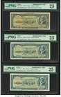 Cuba Banco Nacional de Cuba 5 Pesos 1958 Pick 91a* Replacement Six Examples PMG Very Fine 25. Minor ink is mentioned on one example and an annotation ...