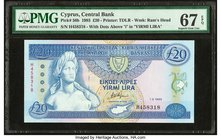 Cyprus Central Bank of Cyprus 20 Pounds 1.3.1993 Pick 56b PMG Superb Gem Unc 67 EPQ.   HID09801242017