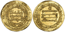 ABBASID, AL-MU'TADID (279-289h) Dinar, Halab 288h Weight: 4.06g Reference: Bernardi 211Gb. Traces of deposit, good very fine and rare 
