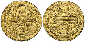 ALMORAVID, 'ALI B. YUSUF (500-537h) Dinar, Ishbiliya (Seville) 520h Weight: 3.93g Reference: Hazard 219. Better than very fine 