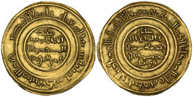 FATIMID, AL-MUSTANSIR (427-487h) Dinar, 'Akka 463h Weight: 3.92g Reference: Nicol 2024. Minor marks, good very fine and very rare 
