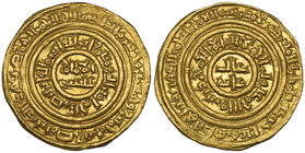 FATIMID, AL-FA'IZ (549-555h) Dinar, Misr 555h Weight: 4.37g Reference: Nicol 2680. Good very fine and rare 