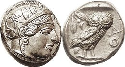 Another, Choice EF, well centered (tho E off on rev)& very sharply struck; excellent lustery metal. Athena's hair waves are razor sharp. Ex Pars Coins...