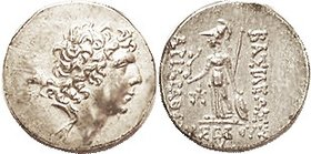 Ariarathes IX, 101-87 BC, Drachm, EF, sl off-ctr mainly on rev, broad flan with uncrowded portrait having great hair detail. Good metal with lt tone. ...