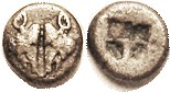 LESBOS, 1/10 Stater, 2 boar's heads face-to-face/4-part incuse square, S3488 (£140); VF, well centered & fully clear, good metal for this with virtual...