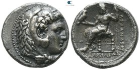 Kings of Macedon. Babylon. Philip III Arrhidaeus 323-317 BC. In the name and types of Alexander III. Struck under Archon, Dokimos, or Seleukos I, circ...