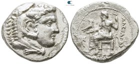 Kings of Macedon. Karne mint. Time of Alexander III - Philip III circa 324-320 BC. In the name and types of Alexander III. Struck under Menes or Laome...
